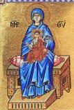 Mosaico de la Virgen María Imágenes de archivo libres de regalías