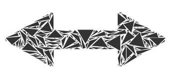Mosaico de las flechas del intercambio de triángulos ilustración del vector