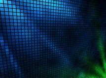 Mosaico de las luces azules y verdes Fotos de archivo