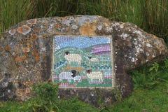Mosaico de las ovejas, North Yorkshire Imágenes de archivo libres de regalías