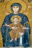 Mosaico de Maria de Virgen en Hagia Sophia Foto de archivo libre de regalías