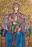 Mosaico de Mary e do bebê Jesus Fotografia de Stock