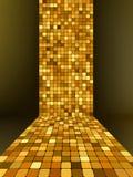 Mosaico de oro, fondo del oro. EPS 8 Fotografía de archivo libre de regalías