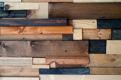 Mosaico de pedazos de madera Fotografía de archivo