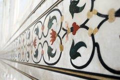 Mosaico de piedra del embutido en Taj Mahal Fotografía de archivo libre de regalías