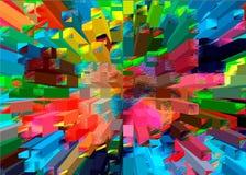 Mosaico de piedras coloridas Líneas y modelos coloridos geométricos Abstracción de colores Fotos de archivo