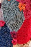 Mosaico de punto del estampado de plores Foto de archivo libre de regalías