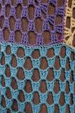Mosaico de punto del estampado de plores Fotografía de archivo libre de regalías