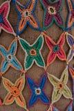 Mosaico de punto del modelo de estrellas Foto de archivo libre de regalías