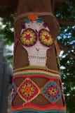 Mosaico de punto del modelo del cráneo Foto de archivo libre de regalías
