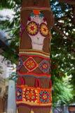 Mosaico de punto del modelo del cráneo Foto de archivo