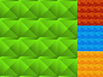 Mosaico de quadrados chanfrados Grupo da cor 4 seamless ilustração stock