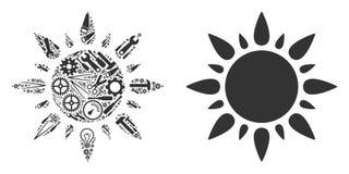 Mosaico de Sun de las herramientas de la reparación stock de ilustración