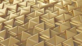 Mosaico de triángulos de oro Imagen de archivo