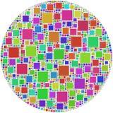 Mosaico de um círculo Imagens de Stock Royalty Free