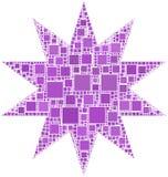Mosaico de uma estrela Fotografia de Stock Royalty Free