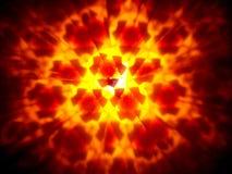 Mosaico decorativo vermelho e alaranjado, blured no fundo preto foto de stock