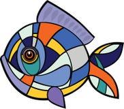 Mosaico dei pesci Immagine Stock