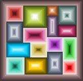 Mosaico dei quadrati illustrazione di stock