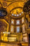 Mosaico del ábside del Theotokos (madre y niño de la Virgen) en Hagia Sophia Foto de archivo