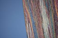 Mosaico del arte con los pedazos quebrados de la teja atados para emparedar fotografía de archivo libre de regalías