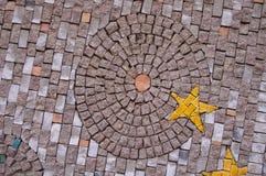 Mosaico del arte en la pared Foto de archivo