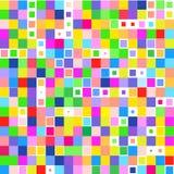 Mosaico del cuadrados coloridos brillantes en un fondo blanco libre illustration