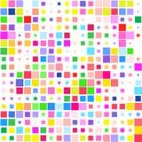 Mosaico del cuadrados coloridos brillantes en un fondo blanco stock de ilustración