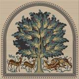 Mosaico del ` dell'albero della vita del ` fotografia stock libera da diritti
