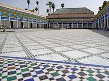 Mosaico del EL Bahia Palace a Marrakesh Fotografia Stock Libera da Diritti