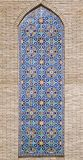 Mosaico del este viejo en la pared, Uzbekistán Imagen de archivo