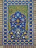 Mosaico del este viejo en la pared Uzbekistán Imagenes de archivo