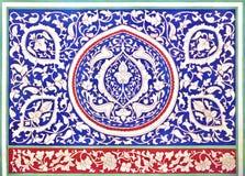 Mosaico del este viejo en la pared, Uzbekistán Foto de archivo libre de regalías