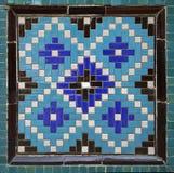 Mosaico del este viejo en la pared, Uzbekistán Imagenes de archivo