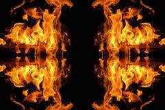 Mosaico del fuoco Fotografia Stock