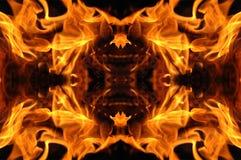 Mosaico del fuoco Immagini Stock Libere da Diritti