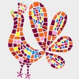 Mosaico del gallo Stock de ilustración