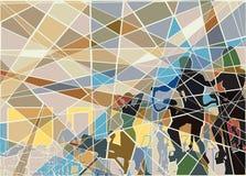 Mosaico del gimnasio ilustración del vector