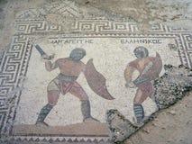 Mosaico del gladiatore Fotografia Stock