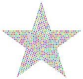 Mosaico del Harlequin di una stella Fotografie Stock