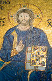 Mosaico del Jesucristo en Hagia Sophia Imágenes de archivo libres de regalías