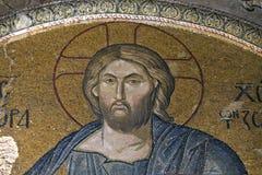 Mosaico del Jesucristo en la iglesia de Chora Fotos de archivo libres de regalías