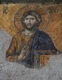 Mosaico del Jesucristo en la iglesia de Hagia Sofía Foto de archivo libre de regalías