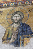 Mosaico del Jesus in Hagia Sophia Costantinopoli Fotografie Stock Libere da Diritti