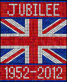 Mosaico del jubileo de diamante Fotos de archivo libres de regalías