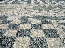 Mosaico del marciapiede fotografie stock
