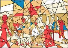 Mosaico del parque Foto de archivo libre de regalías