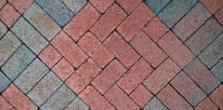 Mosaico del pavimento del mattone per l'elemento di progettazione o del fondo Immagini Stock
