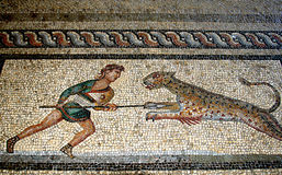Mosaico del pavimento, Rodi Fotografia Stock
