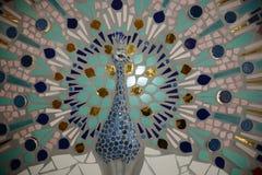 Mosaico del pavone Fotografia Stock